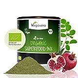 Mix De 17 Superaliments BIO Vegavero® | En Poudre | Thé Ou Smoothies | Parfait Pour L'Été | Sans Gluten | Végan | Fabriqué En Allemagne