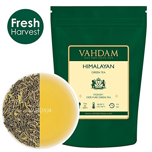 Tè verde in foglie dall'Himalaya (120+ tazze), tè verde disintossicante per perdere peso, da piantagioni di alta quota. Ricco di antiossidanti.(255gm)