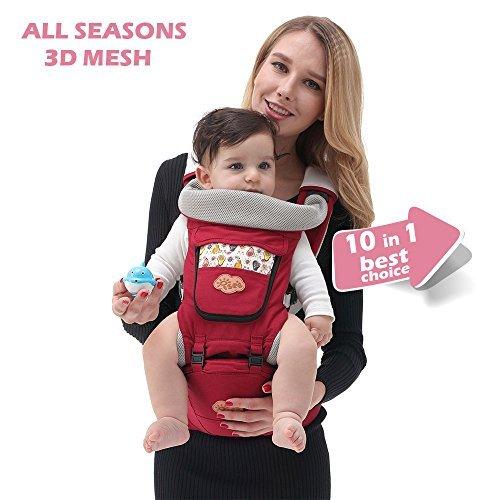 ISEE Marsupio neonato per il trasporto del bambino Mani libere, 10 in 1 Ergonomico Progettato...