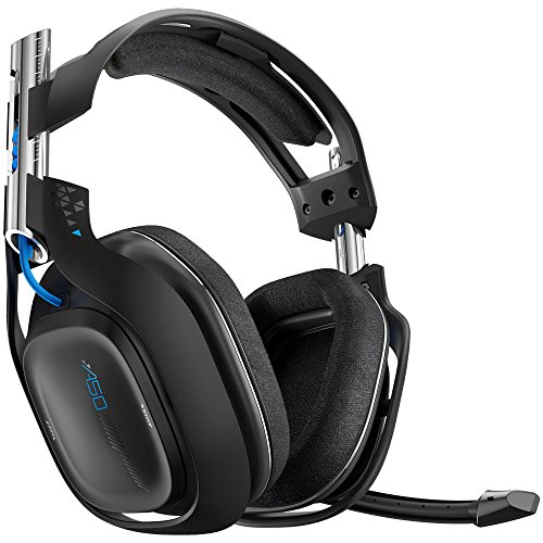 Astro Gaming A50 - Auriculares de diadema cerrado para videojuegos (micrófono, 7.1, 5.8 GHz) color negro
