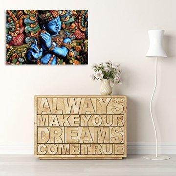 Feeby Frames, Cuadro en lienzo, Cuadro impresión, Cuadro decoración, Canvas de una pieza, ESTATUA BUDA, ZEN, INDIA, ORIENTE, MULTICOLOR 5