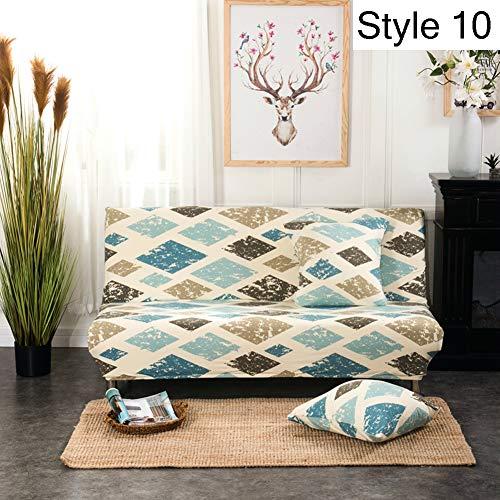 Monba, copertura elasticizzata per divano senza braccioli e divano letto, fodera protettiva con...