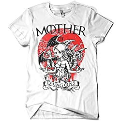 1500-Camiseta Game Of Thrones - Mother of Dragons (Blanca, S)