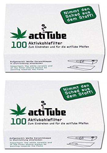 actiTube Aktivkohlefilter - 2 x 100 Stk Packung