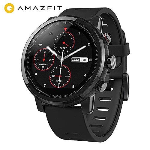 AMAZFIT Stratos 2 Smartwatch, 5 ATM Impermeabile Sports Orologio Fitness Intelligente con 2.5D...