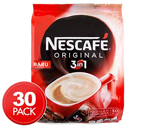 Nescafe 3 in 1 Original Soluble Coffee Beverage, 30 Sachets Bag 4