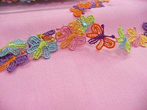 fc41f9c7e A.S. Création, mariposas, poliéster, multicolor, decorativa, color rosa,  verde,