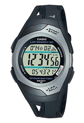 Casio Orologio Digitale al Quarzo Unisex con Cinturino in Resina STR-300C-1VER