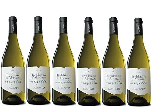 Vino Bianco Trebbiano d'Abruzzo D.O.C. 2018 Cantine'LAMPATO' Colline Pescaresi - Abruzzo - Italy - Box da 6 Bottiglie da 0,75 lt.
