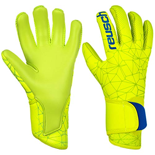 Reusch Pure Contact S1 - Guanti da Portiere da Uomo, Uomo, 3970200, Lime/Safety Yellow, 10