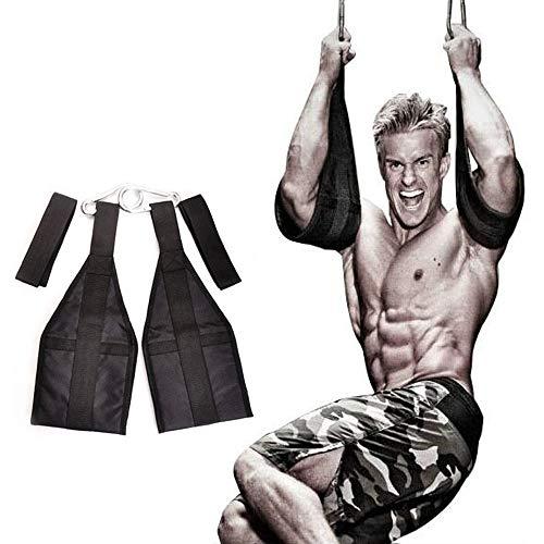 Grist CC AB Straps Slings para Abdominales Acolchado para Colgar con para Entrenamiento Fitness Levantamiento De Pesas Negro 1 Par