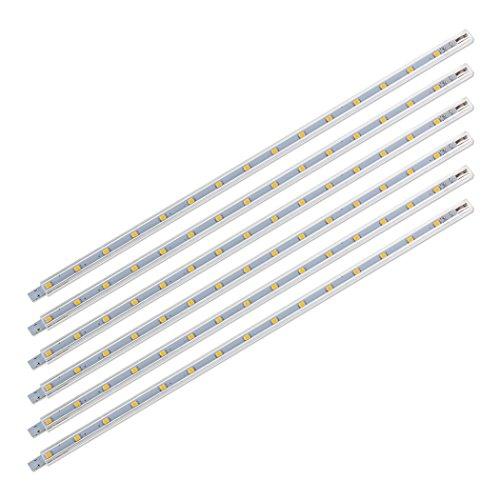 SEBSON 6x LED sottopensile luce calda, 5x3.5x300mm, 2W (pari a 15W), 125 lumen, 12V