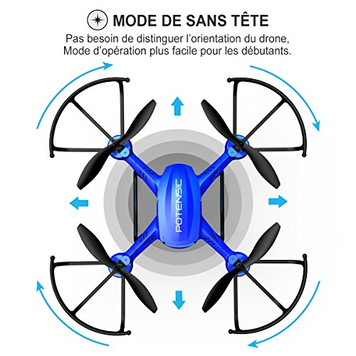 Potensic® Fonction Stepless-speed RC drone F181DH 5.8GHz 4CH 6-Axis Gyro RC Quadcopter drone avec 2 mégapixels caméra HD, Fonction Altitude ... 8