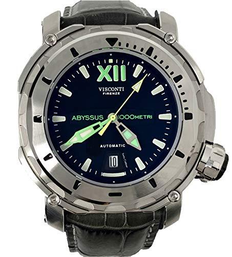 Visconti Herren-Armbanduhr Analog Automatik mit Kroko-Lederarmband Full Dive 1000 Steel KW51-01