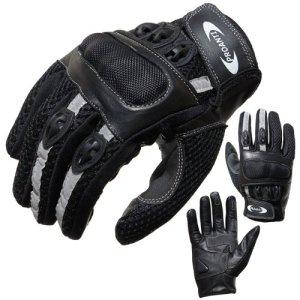 PROANTI Motorradhandschuhe Motorrad Handschuhe Sommer (Gr. XS - XXL, schwarz, kurz) 3