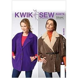 Kwik Sew Patterns K3978Damen-Cape alle Größen, Weiß, 1Stück