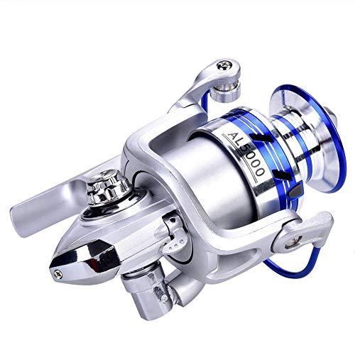 Alomejor Mulinello da Pesca Ruota Anti-Corrosione Pieghevole per Mare in Mare Aperto 2000 4000 5000 Serie(AL5000)