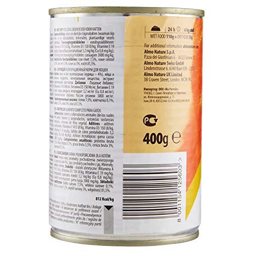 Almo Nature Daily Lot de 24 boîtes de 400 g pour Chat sans céréales avec Poulet 9