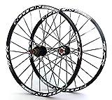 No brand Carbon 26 '' 29' 27.5' 24holes Freno a Disco Mountain Bike Wheels QR Carbonio Mozzi MTB Biciclette Ruote Anteriore 2 Posteriore 5 Cuscinetti sigillati (Color : 275er Black hubs)