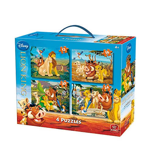 King 13.048 cm re Leone 4-in-1 Disney Puzzle (12/16/20/pezzi)