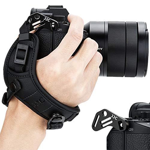 JJC - Cinghia da Polso per Fotocamera Sony A6000 A6300 A6400 A6500 A5100 A5000 A7RIII A7III A7RII A7SII A7II A7R A7S A7 A9 RX1 RX1R RX1RII RX10 II III IV A99II A77II A99 A77 A68 HX350 HX400V H400