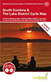 South Cumbria & The Lake District Cycle Map: Including Walney to Wear & Whitby (W2W), Hadrian's Cycleway, the Sea to Sea (C2C), Bay Cycle Way and 5 day rides