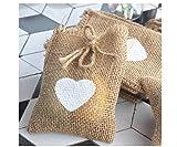 Primi cuore modello stampa lino sacchetto di iuta sacchetto coulisse sacchetti regalo sacchetti di caramelle nozze