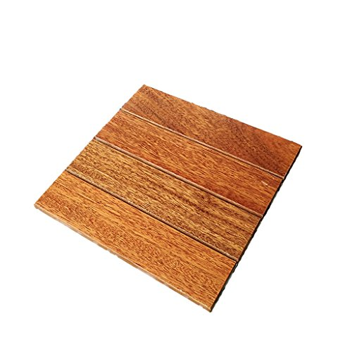 mudiban Pavimenti in legno massello naturale, pavimentazione esterna anticorrosione impermeabile,...