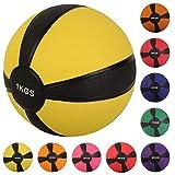 Medizinball Gewichtsball von POWRX 1 - 10 kg | versch. Farben (1 kg / Gelb)