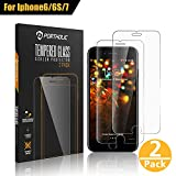 PORTHOLIC iPhone 6 6s 7 8 Protector de Pantalla, Cristal Vidrio Templado Premium 4.7 [2-Unidades][9H Dureza][3D Touch][Alta Definicion] Anti-Explosion/HD-Display/Anti-Water,Oil,Fingerprints/0.33mm