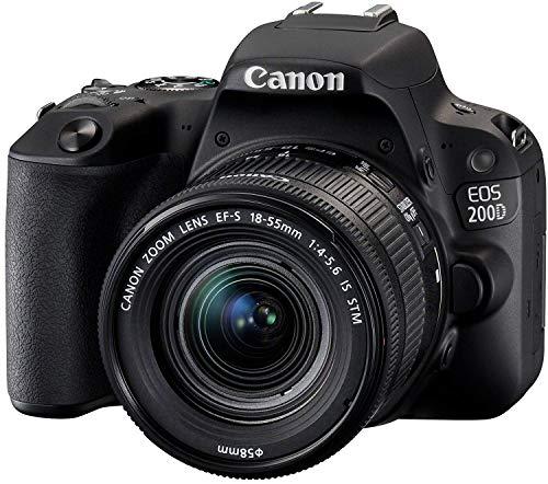Canon EOS 200D Fotocamera Digitale Reflex KIT con Obiettivo EF-S 18-55mm f/4-5.6 IS STM e memoria...