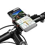 Alloy Fahrrad Handyhalter, Vogek Fahrradhalterung Stander Lenkerhalter Universal Fahrradhalter Stander Lenkerhalter für iPhone X/8/8 Plus/7/7 Plus, Samsung Galaxy & allen Handy mit 4,0-6,5 Zoll