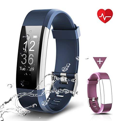 Fitness Tracker Impermeabile IP67, LATEC Cardiofrequenzimetro Activity Tracker Braccialetto...