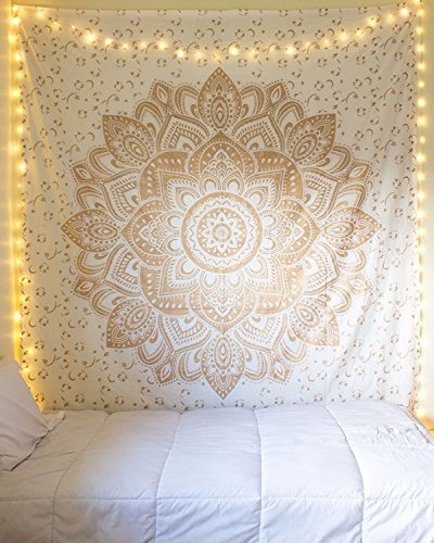 Tapestry Queen ombre Gift hippie arazzi mandala Bohemian Psychedelic intricato indiano copriletto...
