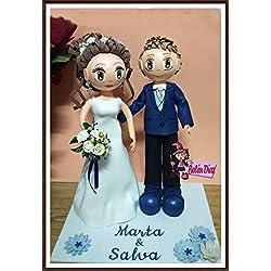 Fofuchos figura pareja novios boda tarta 35 cms. personalizados
