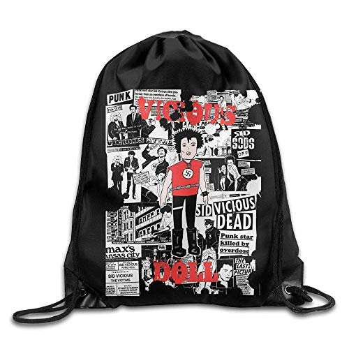 Etryrt Coulisse Sacchetto,Sacca Coulisse Zaino,Sacca Sportiva, Drawstring Backpack Sid Vicious Doll...