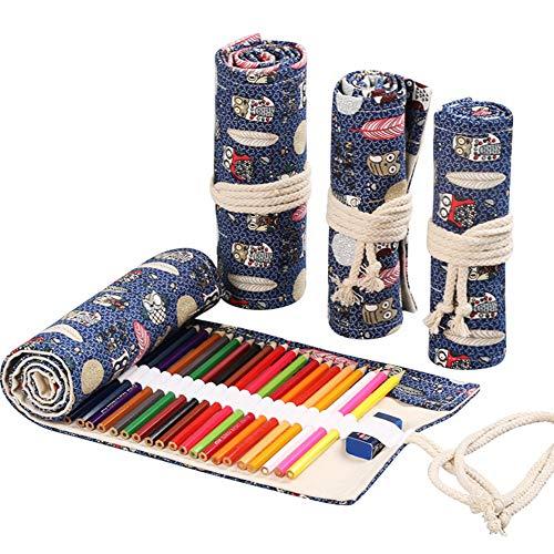 Arrotolabile Astuccio per Matite Colorate Astuccio Portamatite in Tela Wrap Penna Borse Organizer...