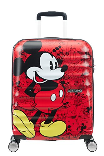 American Tourister Disney Wavebreaker Valigia Multicolore (Mickey Comics Red), 36 litri, S (55cm)