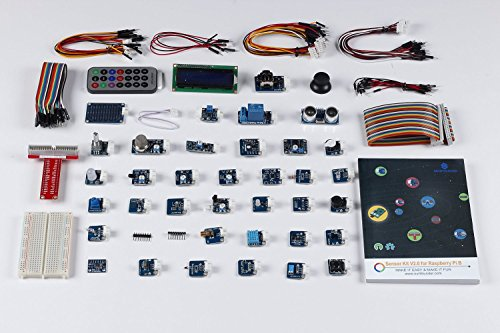 51TT6eRg3QL - SunFounder 37 Modules Sensor Kit V2.0 for Raspberry Pi 4, 3, 2 and RPi Model B+, 40-Pin GPIO Extension Board Jump wires