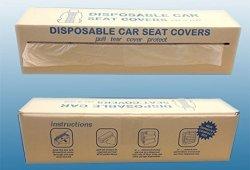 Lot de 100 housses jetables pour sièges de voitures en polythène prêt à acheter