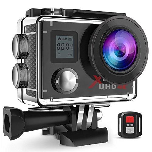 Campark ACT76 Action Cam 4K WIFI 16MP Ultra HD Sport Action Camera con Dual Screen Telecomando 170°...