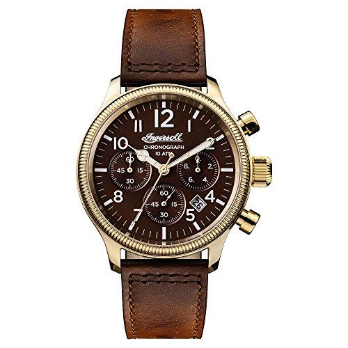 Ingersoll Herren Chronograph Quarz Uhr mit Leder Armband I03802