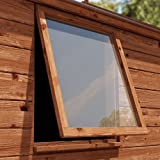 """Clear Acrylic Perspex Safety Plastic Replacement Shed Windows - 610mm x 610mm (24"""" x 24"""") (2mm Thick)"""