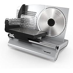 Homgeek Allesschneider Aufschnittmaschine mit 19cm Klinge 150W