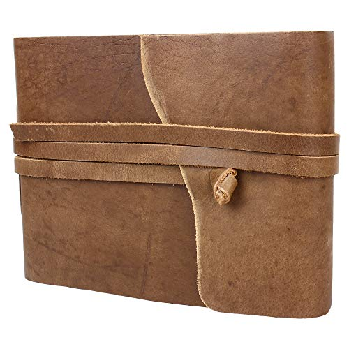 LUCERNE Leather Handcrafted Photo Album Scrapbook Style Handmade Paper for Women/Men