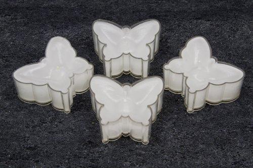 Velas en forma de mariposa blanco - 4 pcs por unidad