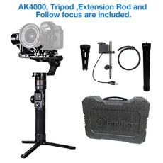 FeiyuTech AK4000 3-Axis Gimbal Stabilizer for Mirrorless & DSLR Camera Sony Canon Panasonic Nikon Smart Touch Panel WiFi Bluetooth Connection 4Kg Payload Free Follow Focus Carbon Fiber Extension Rod