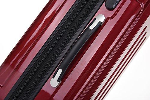 BEIBYE Zwillingsrollen 2048 Hartschale Trolley Kofferset Reisekoffer in M-L-XL-Set in 14 Farben (Set, ROT) - 4