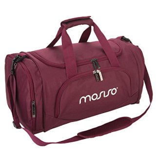 ... lowest price 69059 37f2d MOSISO Canvas Fabric Foldable Gym Bag Sports  Duffels Lightweight Athletic Sport Shoulder ... 4283a08f9f