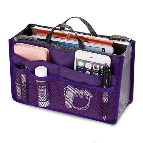 Panzl Women Multipurpose Multipocket Handbag Organizer (Color May Vary)